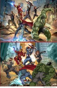 avengers-posing-like-women