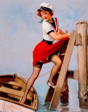 """""""Sailor Beware"""" by Elvgren"""
